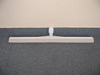 Műanyag víztoló fehér gumival, 55 cm