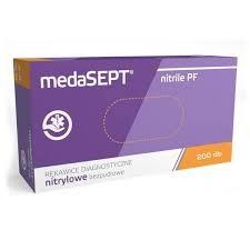 medaSEPT NITRIL vizsgálókesztyű,púderesMENTES,M(7-8)méret,200db-os
