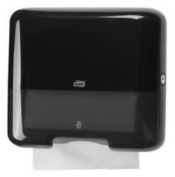 553108 Tork műanyag mini Z és C hajtogatású kéztörlő adagoló, fekete  H3 rendszer
